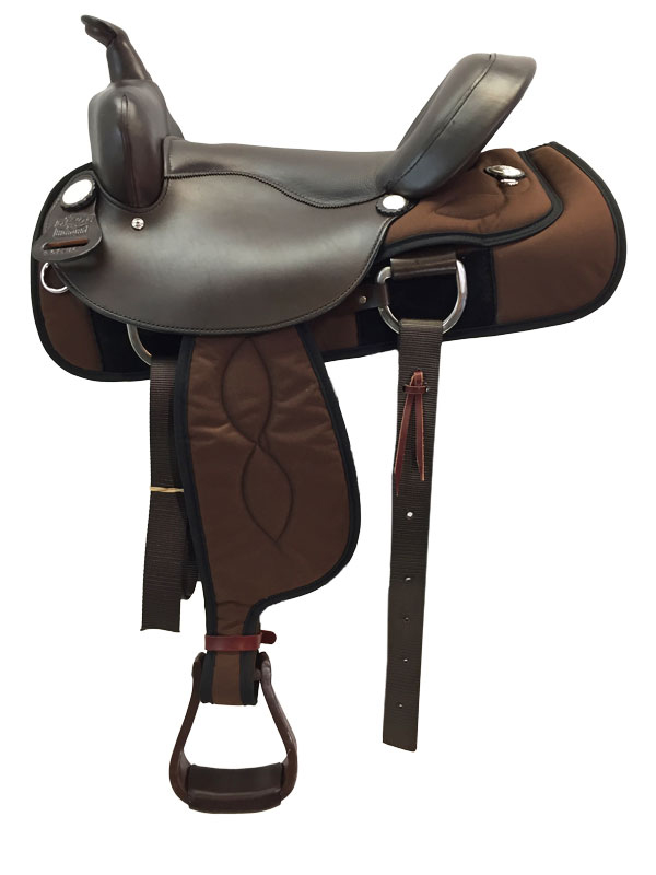 16inch Big Horn Ralide Wide Flex Tree Saddle 302