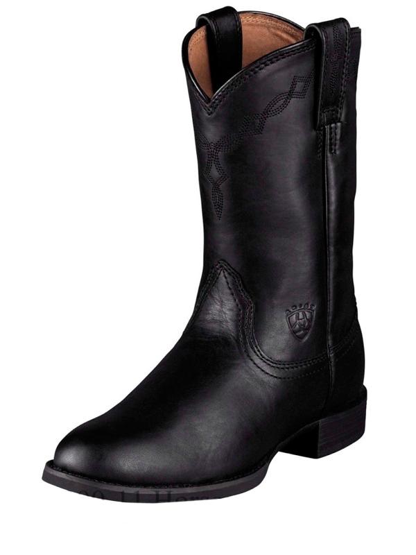Women | Black | Rope | Boot | Toe
