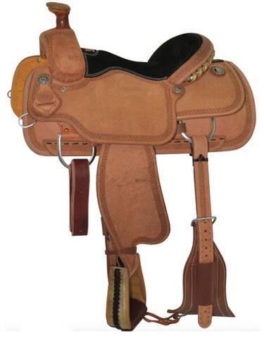 14inch To 16inch Circle Y Mini Snake Border Tooled Roping Saddle 2778 W/free