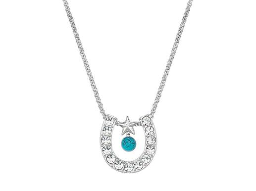 Horseshoe | Turquoise | Necklace | Montana | Crystal