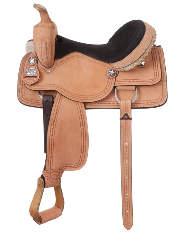 10inch to 17inch King Series Cowboy Roughout Saddle with Barbwire Tooling 181