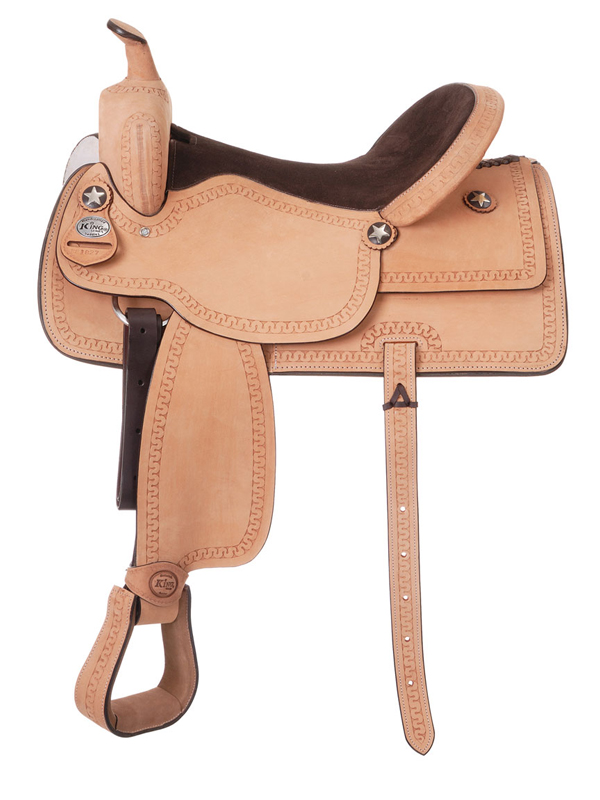 10inch King Series Cowboy Roughout Saddle with Serpentine Tooling 182