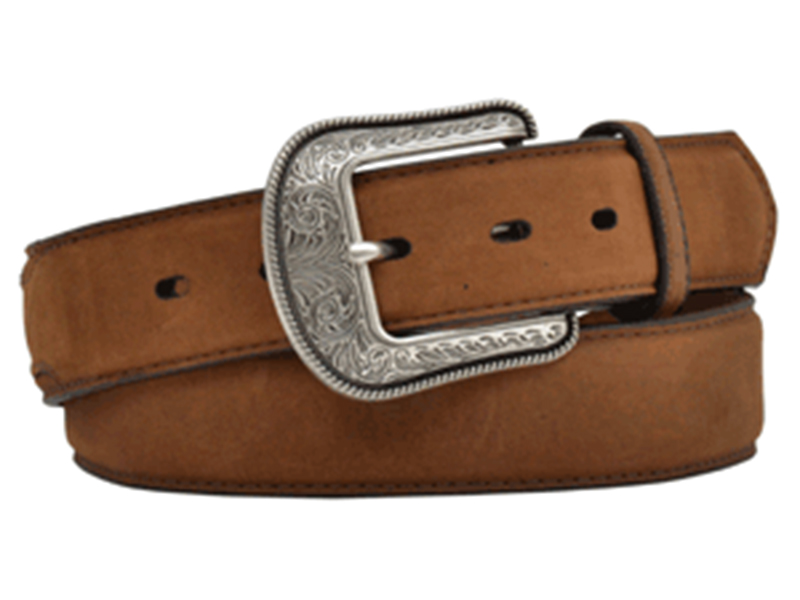 Mens Crazy Correct Brown Belt With Overlay D1022