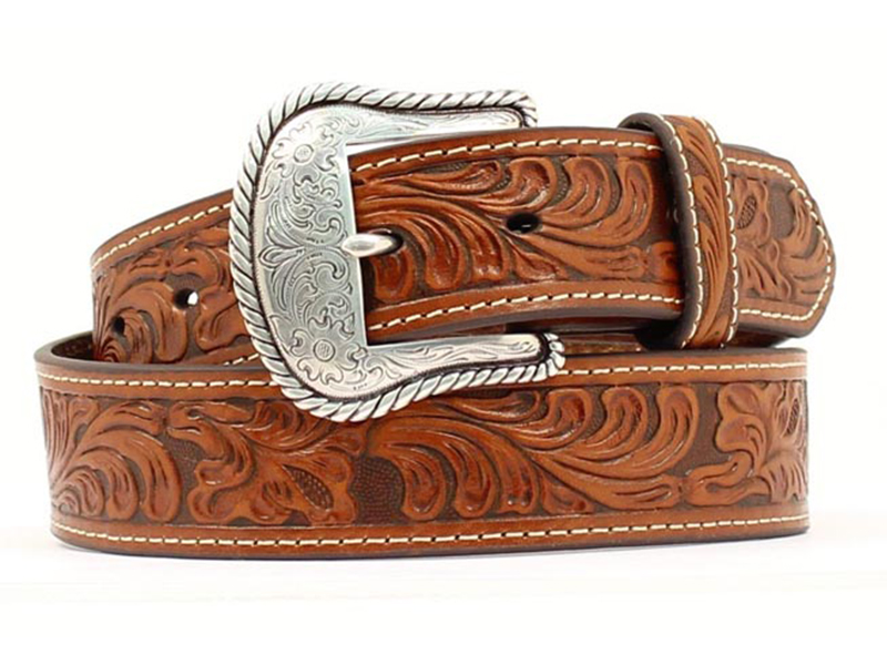 Nocona Mens Tan Leather Belt N2446008