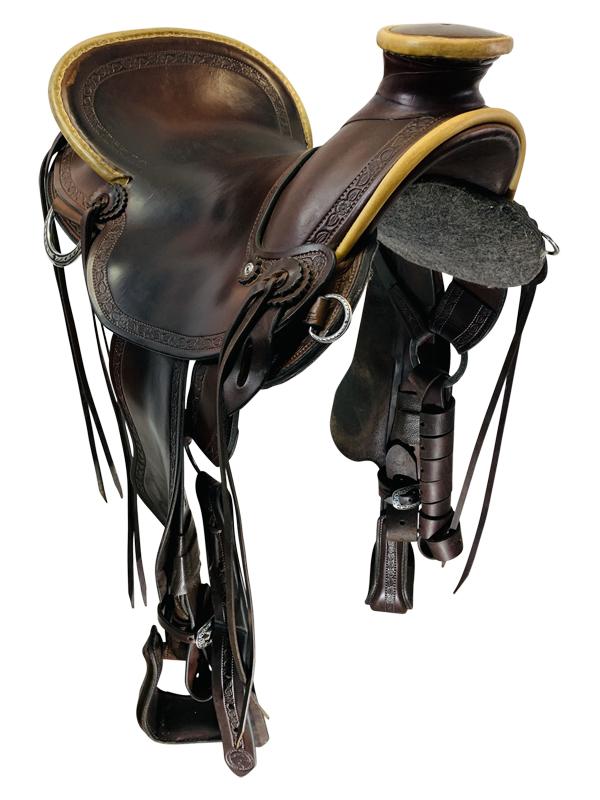 16 Inch Used Allegany Mountain Kydaho Rancher Light Trail Saddle Custom