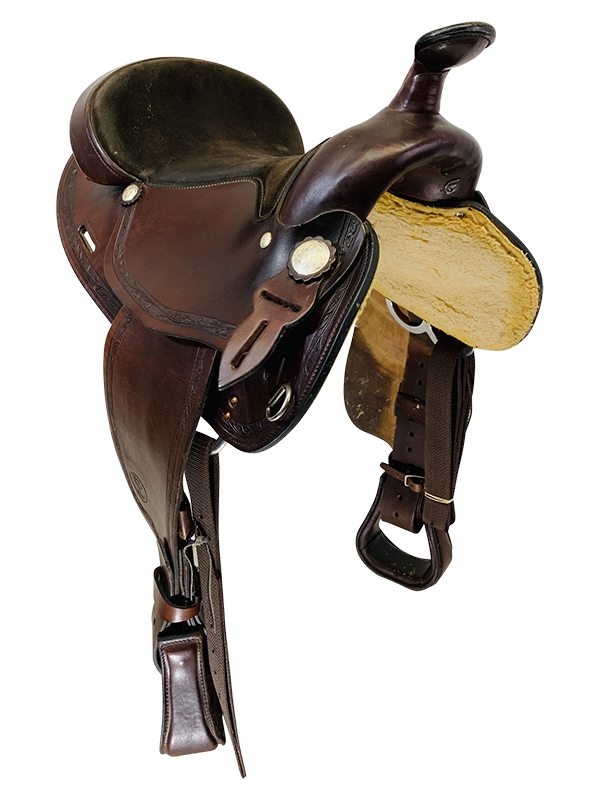 15.5Inch Used Big Horn Haflinger Trail Saddle 1579