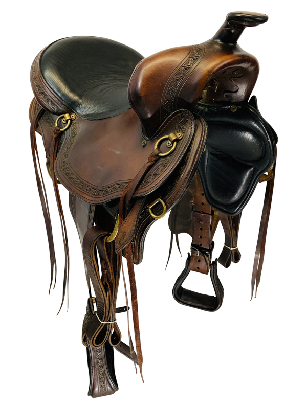 17 Inch Used Big Horn Infinity Gaited Trail Saddle 1647
