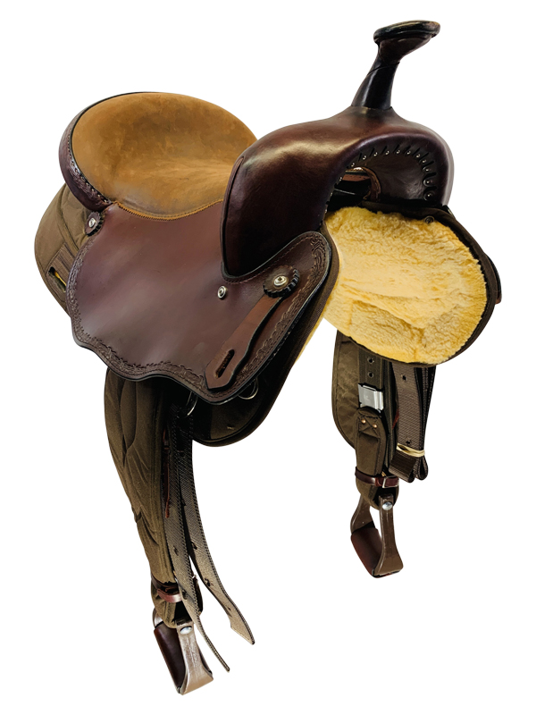 17 Inch Used Big Horn Light Weight Haflinger Saddle 286