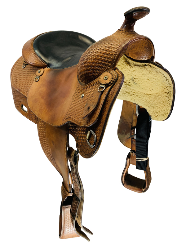 15 Inch Used Broken Horn Reining Saddle Custom