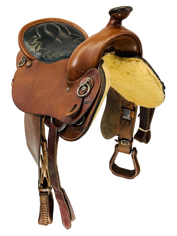 16 Inch Used Crest Ridge Saddlery Ardent Series Trail Saddle Custom