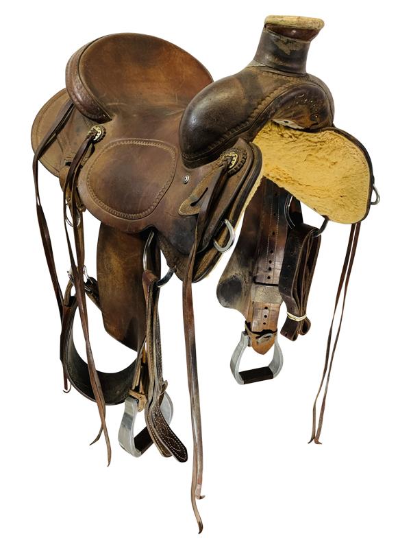 15.5inch Used Cactus Saddlery Craig Cameron Ranch Saddle Custom