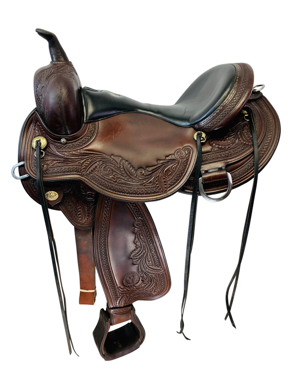 17 Inch Used Circle Y Julie Goodnight Wind River Flex2 Saddle 1750