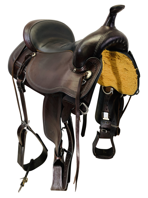 17 Inch Used Circle Y Topeka Flex2 Trail Saddle 1651