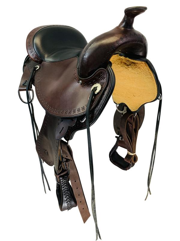 16 Inch Used Circle Y Alabama Flex2 Trail Gaiter Saddle 1581