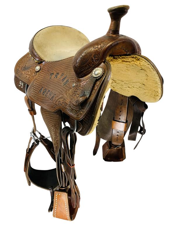 14.5inch Used Dale Martin Saddlery Roping Saddle Custom