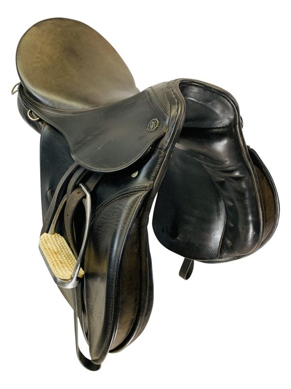 16 Inch Used George Kieffer Aachen Aj Dressage Saddle Custom
