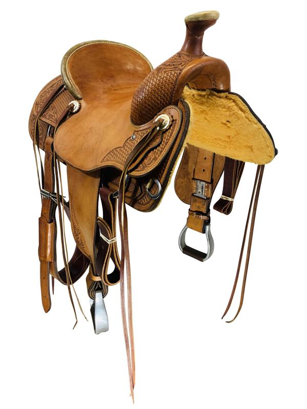 16 Inch Used Rico Ranch Saddle Custom