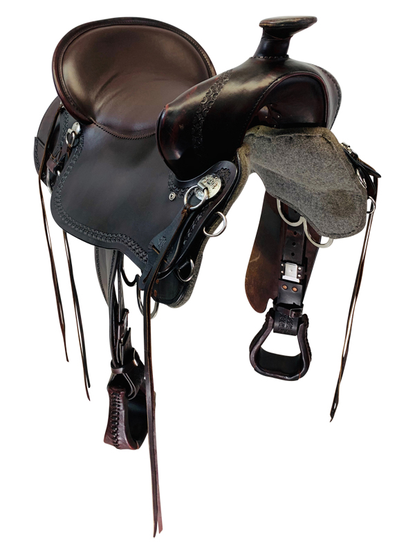 18.5Inch Used Tucker Big Bend Classic Trail Saddle T93