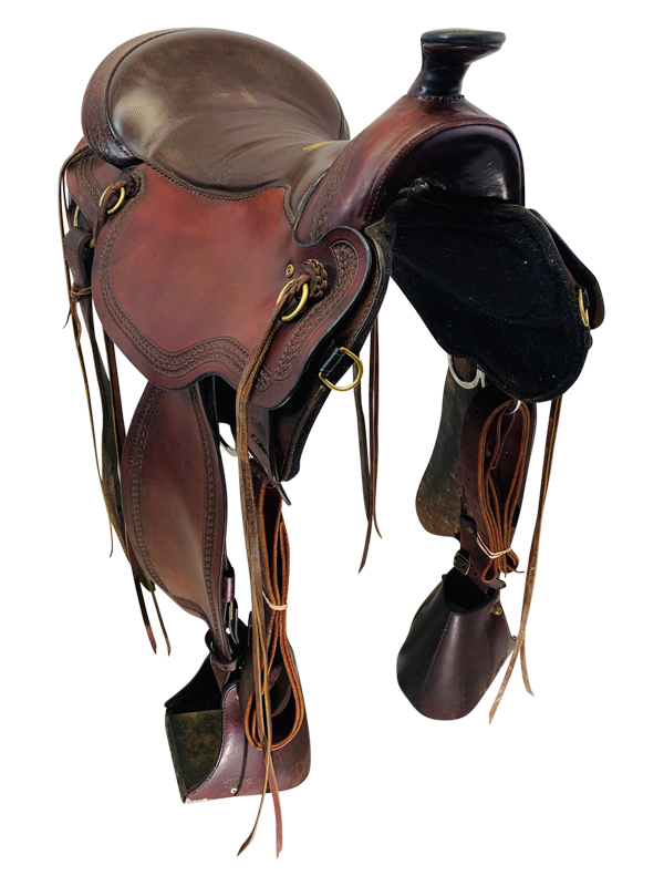 17.5Inch Used Tucker Gen II South Pass Mule Trail Saddle 288