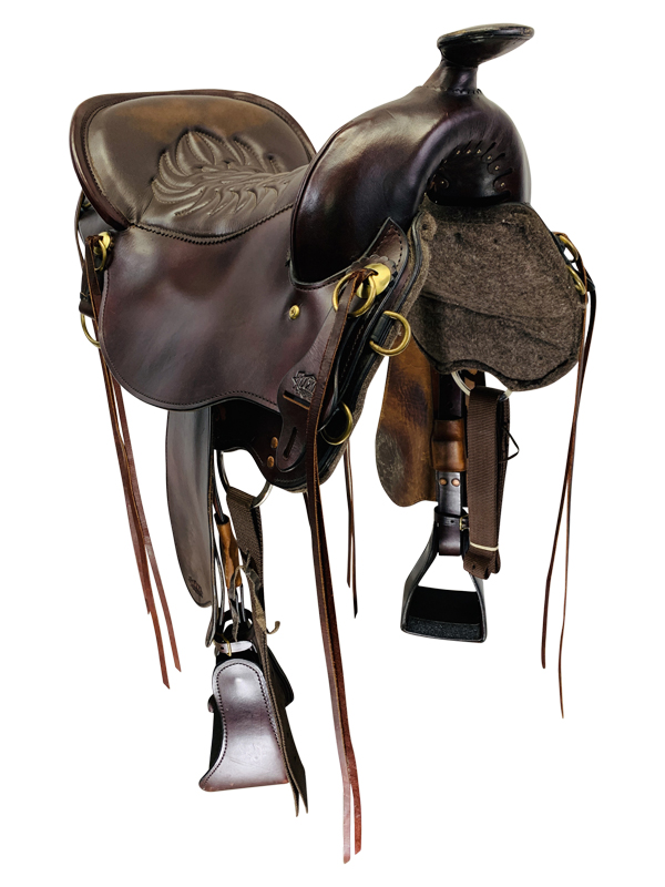 17.5Inch Used Tucker Cheyenne Frontier Trail Saddle 167