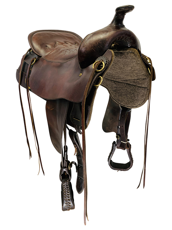 18.5Inch Used Tucker Cheyenne Frontier Trail Saddle 167