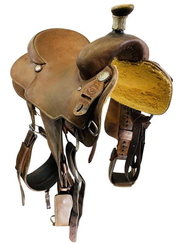 14.5inch Used Teskeys Ranch Saddle Custom